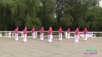 郑州市铁文俏夕阳艺术团广场舞 草原的月亮 表演 团队版