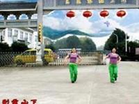 陈瑶湖天使广场舞《雪山姑娘》原创舞蹈 正背面演示