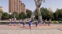 国瑞城欢乐舞者健身队广场舞 雪山姑娘 表演 团队版