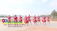 白马女子健身队广场舞 美丽的雪山姑娘 表演 团队版