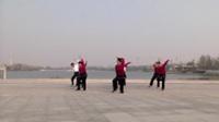 虞城红歌舞舞蹈队广场舞 草原的月亮 表演 团队版