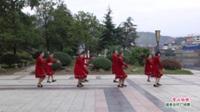 广西桂林灌阳县新圩镇街上凤凰队广场舞  雪山姑娘 表演 团队版