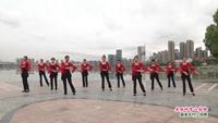 武汉桂香舞蹈队广场舞  美丽的雪山姑娘 表演 团队版 正背面口令分解动作教学演示