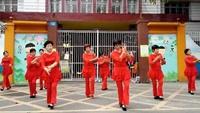 阿惠姐妹,欢乐阿惠广场舞《敖包再相会》附正背表演口令分解动作分解教学