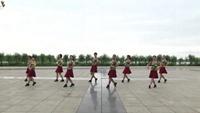 赣中燕舞1队广场舞 雪山姑娘 表演 团队版 附正背表演口令分解动作分解教学