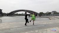 鄢建平与王杰芬交谊舞 雪山姑娘 表演 双人版 正背面演示及慢速口令教学