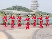 陕西西安亲青广场舞 三妮儿的笑 正背表演与动作分解