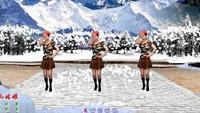 玖月广场舞【雪山姑娘】视频制作:龙虎影音原创附教学口令分解动作演示
