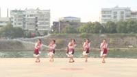 湖南省湘乡市山枣镇舞韵山枣舞蹈队广场舞 雪山姑娘 表演 团队版