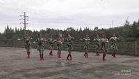 四川成都流星雨姐妹三分队广场舞 雪山姑娘 表演 口令分解动作教学演示