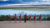 安徽龙飞广场舞 雪山姑娘 表演 团队版 正背面演示及口令分解动作教学