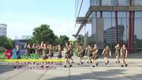 武汉沌口官湖景珠舞蹈队广场舞 雪山姑娘 表演 团队版 正背面演示及慢速口令教学