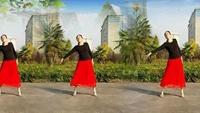 潢川燕子广场舞《风吹麦浪》编舞潢川燕子正背面演示及口令分解动作教学和背面演