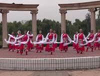 香屯快乐姐妹广场舞 美丽的雪山姑娘 表演 正背面演示及慢速口令教学