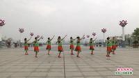 南昌县莲塘向阳舞蹈队  敖包再相会 表演 团队版 口令分解动作教学