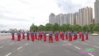 吉林市快乐一小时健身队广场舞 雪山姑娘 表演 团队版 正背面演示及口令分解动作教学和背面演