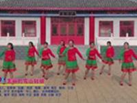 北神南广场舞 美丽的雪山姑娘 表演 正背面演示及口令分解动作教学