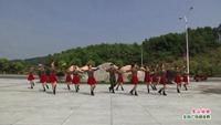 靖安香田全民健身广场舞 雪山姑娘 表演 团队版 正背面演示及口令分解动作教学和背面演