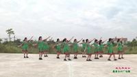 武汉市黄陂罗汉寺街怦然心动舞蹈队广场舞   敖包再相会 表演 团队版 正背面演示及口令分解动作教学和背面演