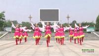 河南焦作市孟州建军舞蹈队广场舞 美丽的雪山姑娘 表演 团队版附正背面口令分解教学演示