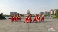 乐安县金茂广场舞 雪山姑娘 表演 正背面演示及口令分解动作教学和背面演
