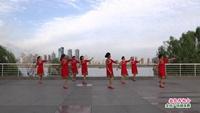 南昌快乐健身舞蹈队广场舞 敖包再相会 表演 团队版 口令分解动作教学