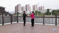 袁志龙与孙秀梅交谊舞 雪山姑娘 表演 双人版 正反面演示及分解动作教学