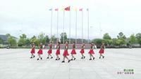 黄荆舞队广场舞 雪山姑娘 表演 团队版 正反面演示及分解动作教学