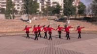 岳阳市玫瑰湾姐妹队广场舞 雪山姑娘 表演 团队版