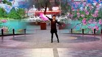 長安水仙花廣場舞《紅塵蝶戀》制作:星星演示:開心原創附正背面教學口令分解動作演示