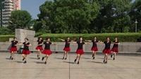 赤壁蒲纺六米桥公园舞蹈队广场舞 雪山姑娘 表演 团队版 正反面演示及分解动作教学
