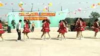 江头姐妹联欢表演《歌在飞》广场舞视频大全2017年原创附正背面教学口令分解动作演示