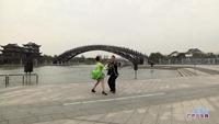 张建光与郭云兰交谊舞 雪山姑娘 表演 双人版附正背面口令分解教学演示