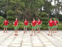 联圩吉祥广场舞 美丽的雪山姑娘 表演 经典正背面演示及口令分解动作教学
