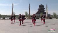 乾安遐之韵舞队广场舞  雪山姑娘 表演 团队版 经典正背面演示及口令分解动作教学