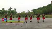 武汉青山东湖丹美广场舞队广场舞 雪山姑娘  表演 团队版 正背面口令分解动作教学演示