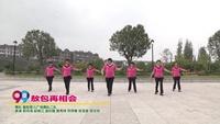 襄阳蓉儿广场舞队二队广场舞  敖包再相会 表演 团队版 口令分解动作教学演示
