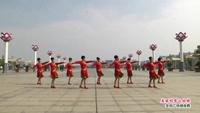 南昌县揭家舞蹈队  美丽的雪山姑娘 表演 团队版 正背面口令分解动作教学演示
