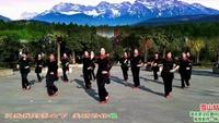 武汉红星闪闪广场舞《雪山姑娘》团队演绎,编舞春英正背面口令分解动作教学演示