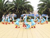 圆梦广场舞 民族舞 雪山姑娘 表演 附正背表演口令分解动作分解教学
