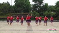 锦湖公园舞蹈队广场舞 美丽的雪山姑娘 表演 团队版 正背面口令分解动作教学演示