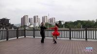 庄介荣与陈荣珍交谊舞 雪山姑娘 表演 双人版 正反面演示及分解动作教学