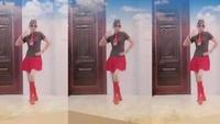 幽兰广场舞 (雪山姑娘)正背面演示及口令分解动作教学