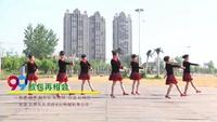 漯河市晨运舞队广场舞 敖包再相会 表演 团队版 原创附教学口令分解动作演示