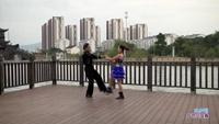 全星原与陈怀秀交谊舞 雪山姑娘 表演 双人版 原创附正背面教学口令分解动作演示