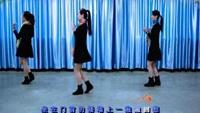 桃花森林广场舞《外婆的澎湖湾》正背面口令分解动作教学演示