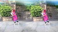 四海晨练健身舞队《敖包再相会》演示:笑口常开正背面口令分解动作教学演示
