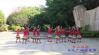 柳州市柳南区舞动快乐队 雪山姑娘 表演 团队版 口令分解动作教学演示