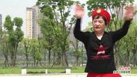 宜春上高笑容灿烂队广场舞 雪山姑娘  表演 团队版 原创附教学口令分解动作演示