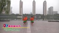 太原森园健身舞蹈队广场舞  春到最北方 表演 团队版 完整版演示及分解教学演示